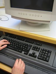 Lavorare al PC con il display braille